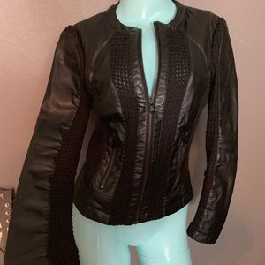 BCNI by Blanc Noir Jacket Coat Faux Leather Small